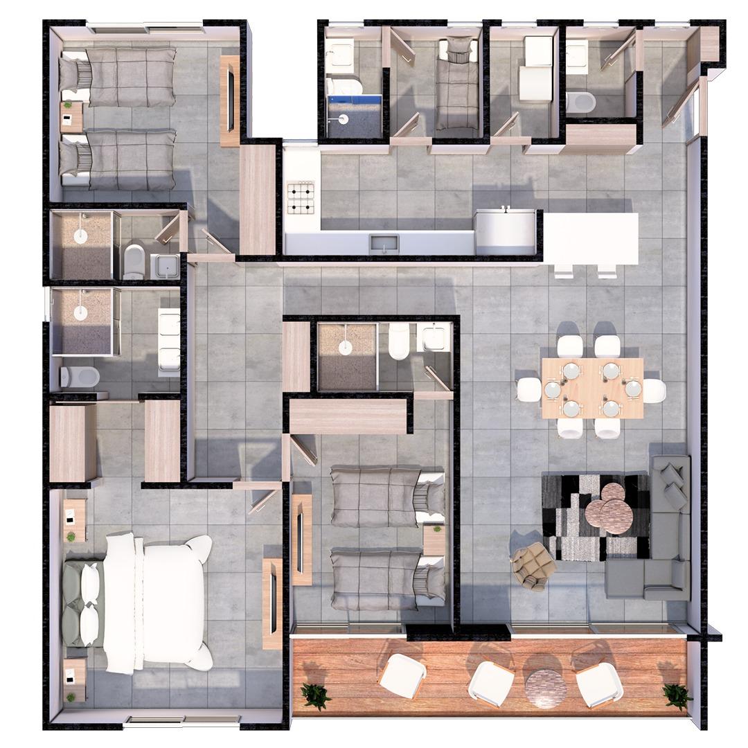 Tipo de apartamento 1