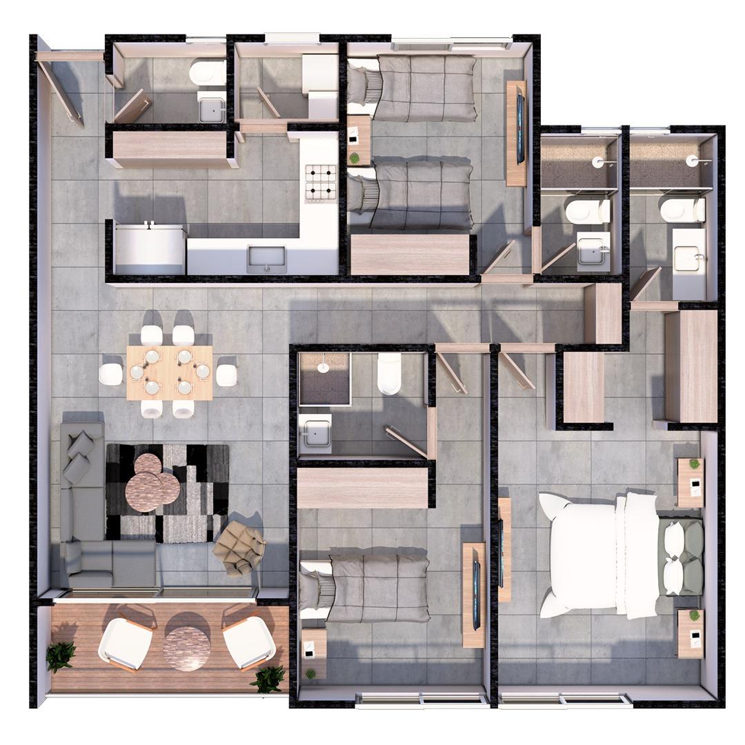 Tipo de apartamento 2