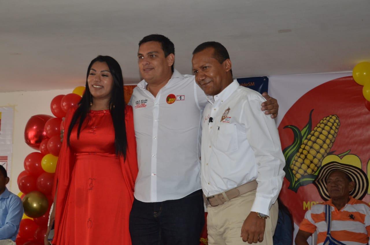 Martha Peralta, Carlos Bolaño y Jaime Cárdenas.