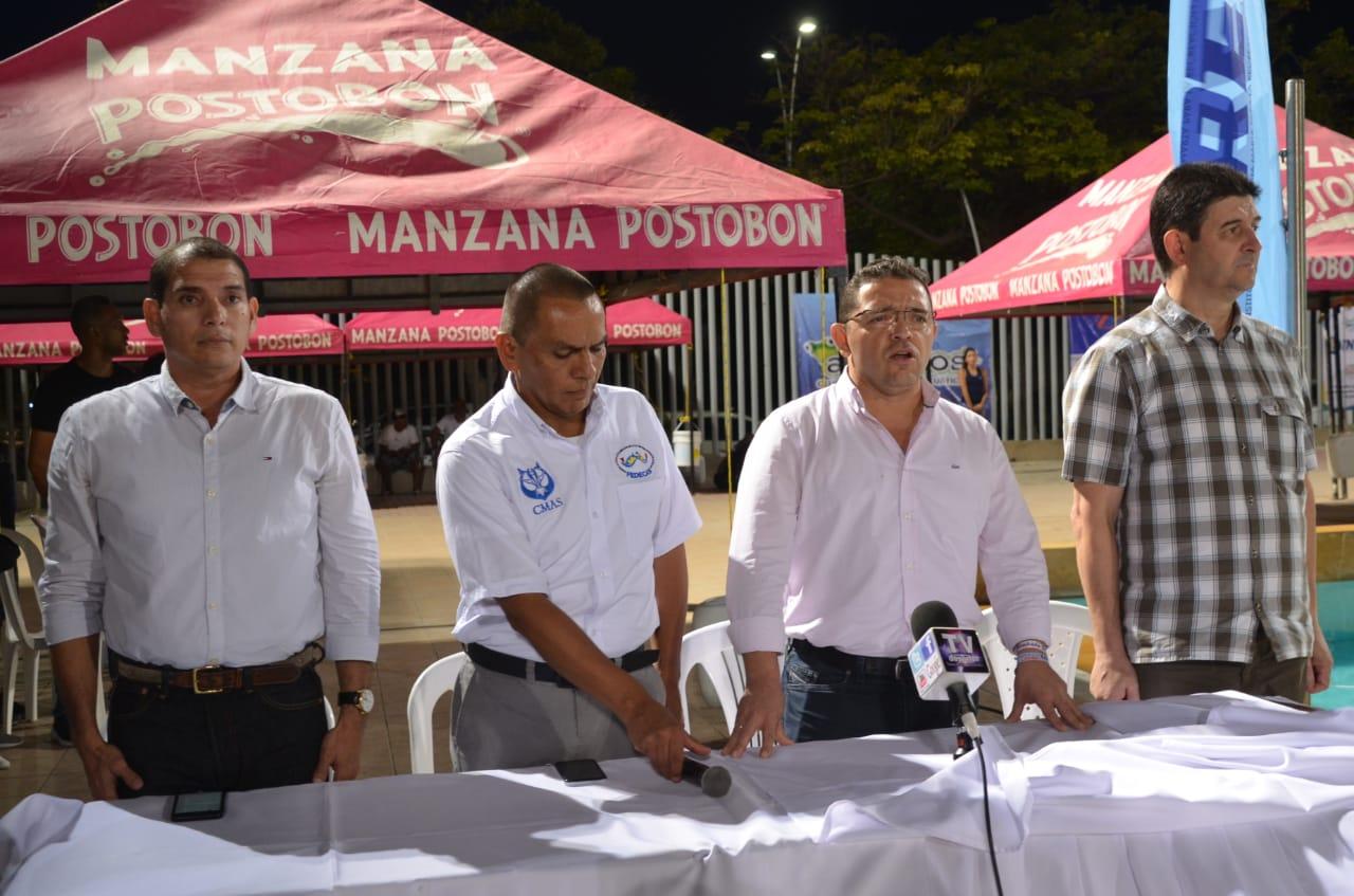 El Presidenrte de la Federación participó en el acto inaugural junto al alcalde Rafael Martínez.