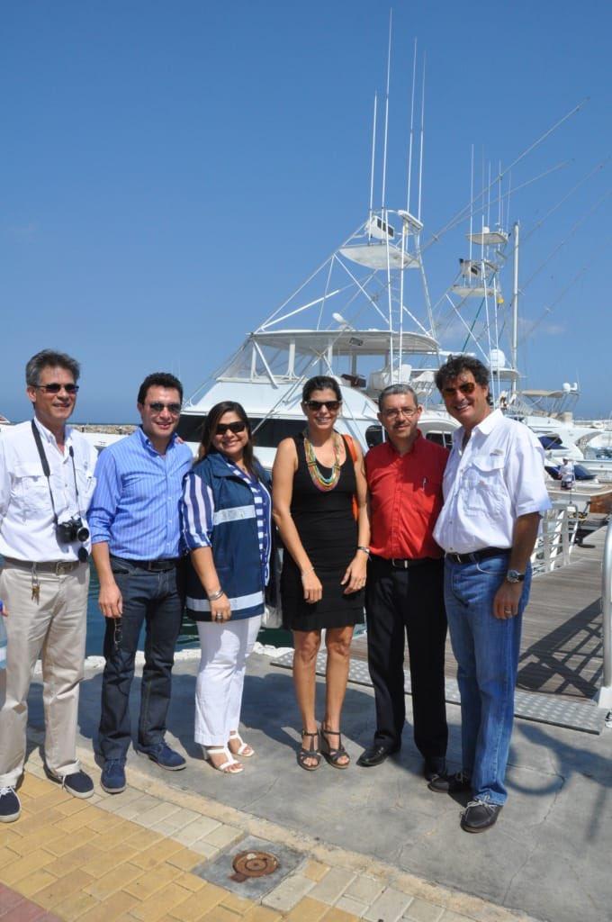 Caicedo, de visita en la Marina, usándola como referente para los visitantes y autoridades que iban a la ciudad durante su administración.