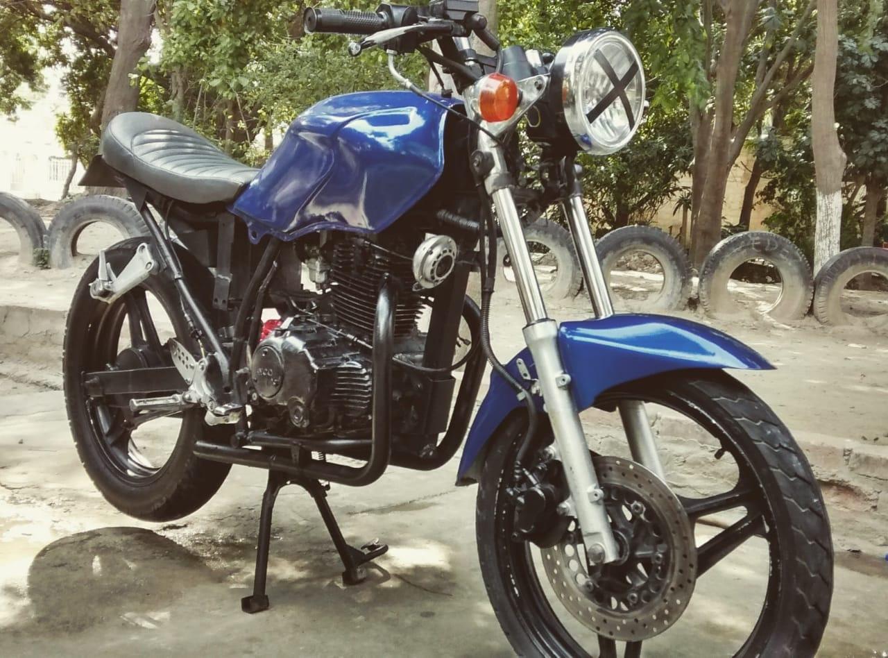 Motocicleta recuperada.