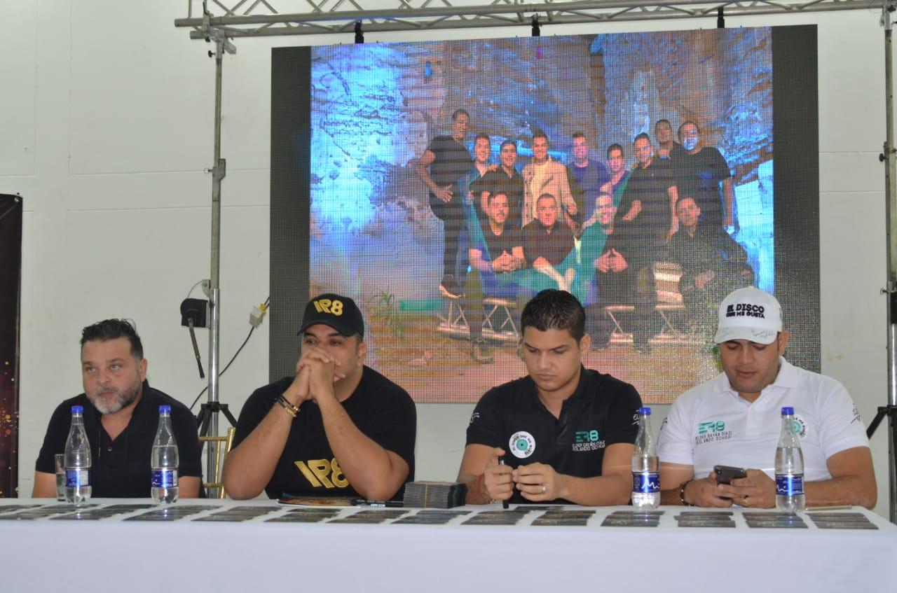 Rueda de prensa en Santa Marta.