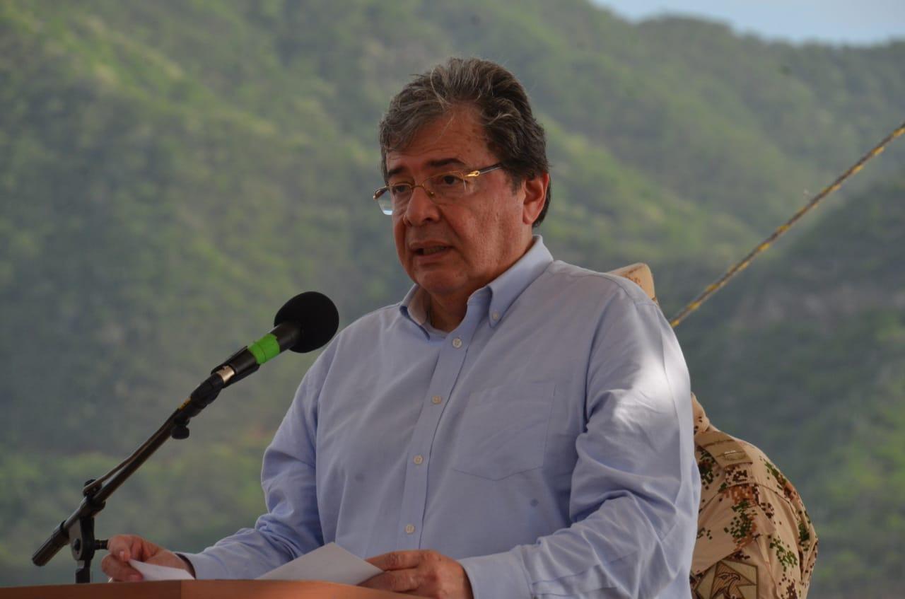 El Canciller dijo que la visita del buque ratifica las buenas relaciones entre Colombia y los Estados Unidos.