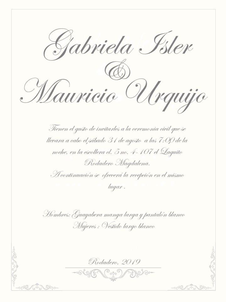 Invitación a la boda