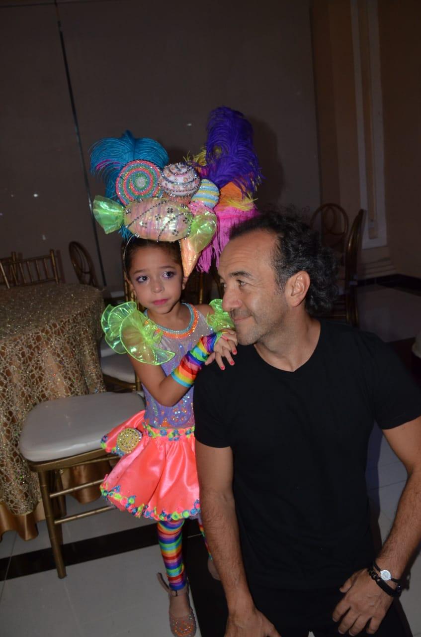 Yamid Ahmad y su hija Sarah Ahmad