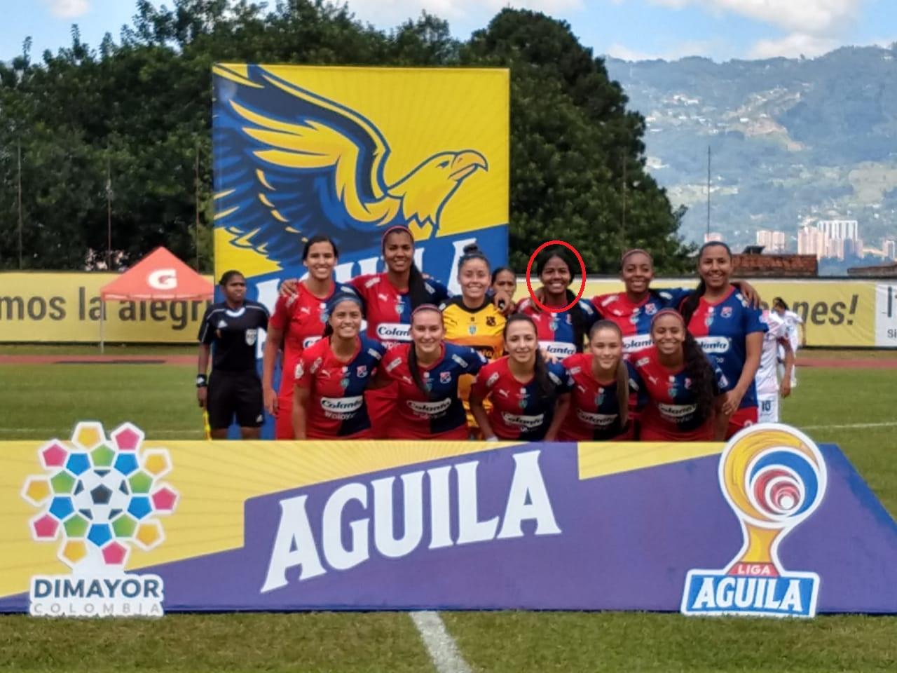 Yuliana, en la formación titular del Medellín ante Once Caldas.