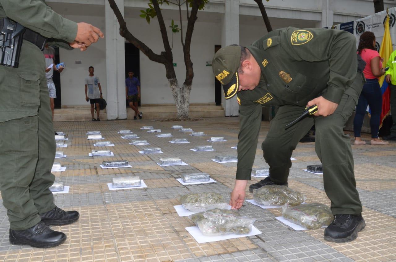 Los 35 kilos de cocaína tienen un valor cercano a los 700 millones de pesos.