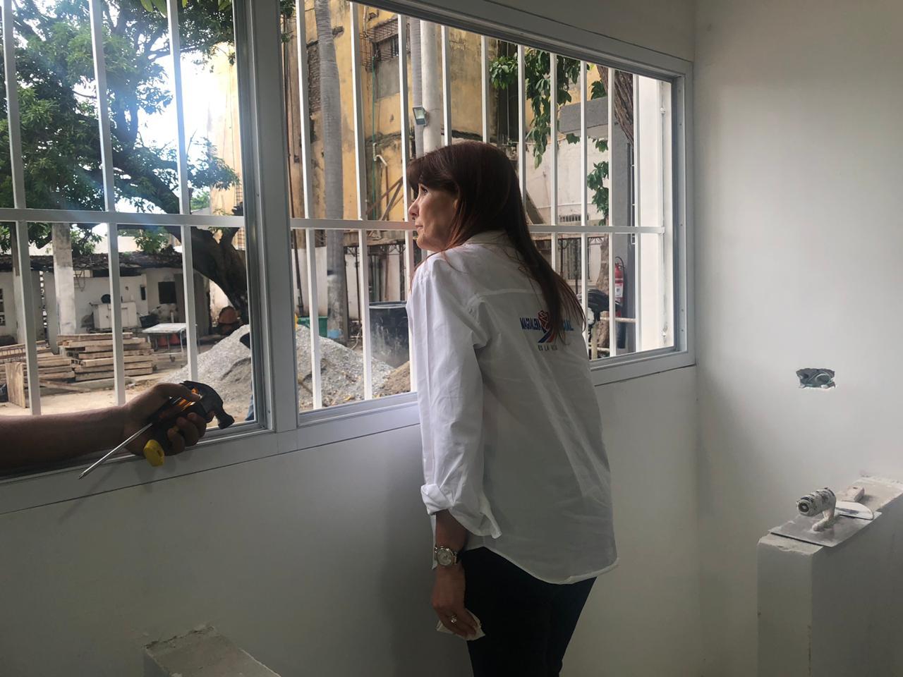 La Gobernadora revisó distintas obras en el municipio de Ciénaga.