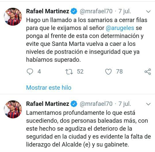 Trinos de Rafael Martínez cuando no fungía como alcalde.