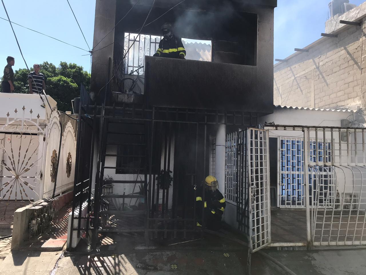 Así quedó la vivienda consumida por el fuego.