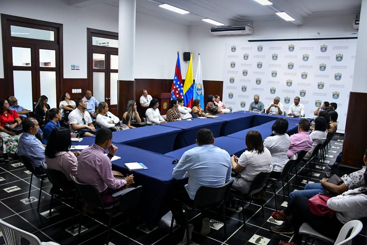 Reunión de empresarios con miembros de la Gobernación del Magdalena