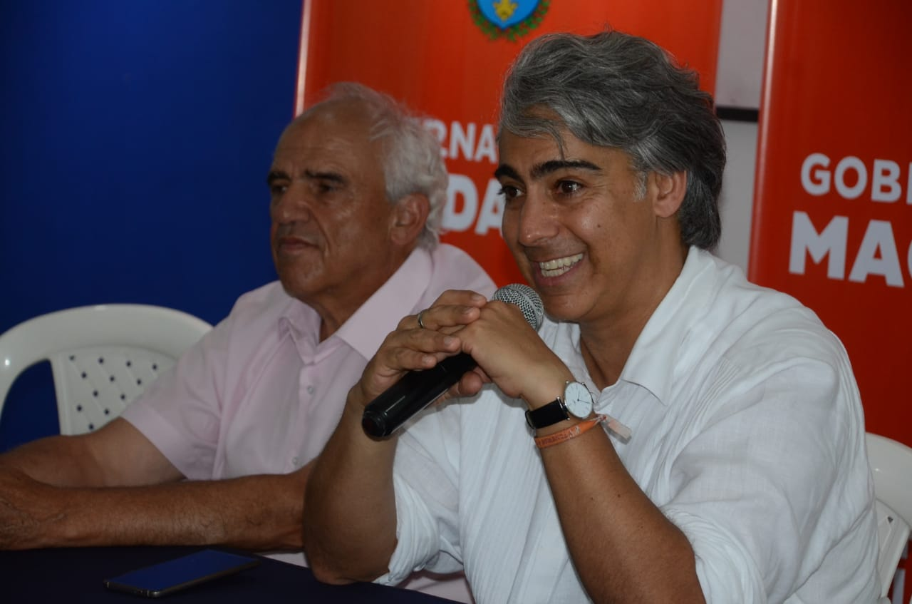 El excandidato presidencial chileno Marco Enríquez-Ominami, fundador del Grupo de Puebla, estuvo en Santa Marta.
