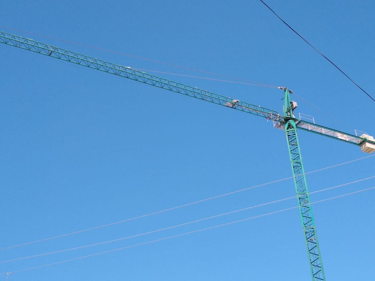 Grúa de construcción.