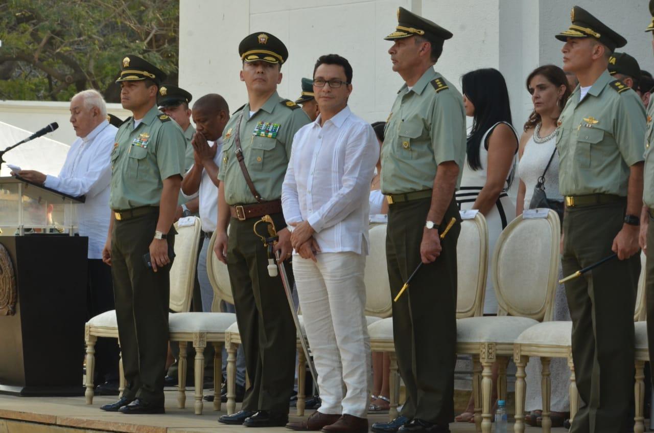 A la ceremonia de transmisión de mando asistió el subdirector de la Policía Nacional, general Gustavo Moreno.