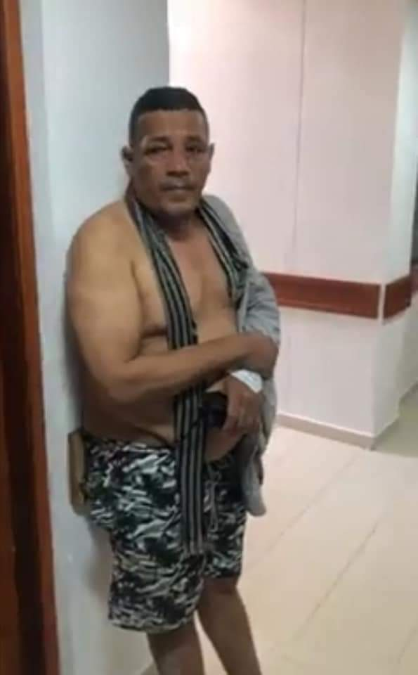 Durlandis Morales, tras el ataque a bala.