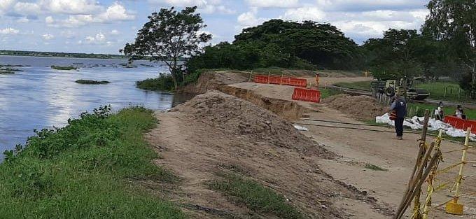 El secretario de Gobierno dijo que el río está creciendo y eso se convierte en una amenaza.