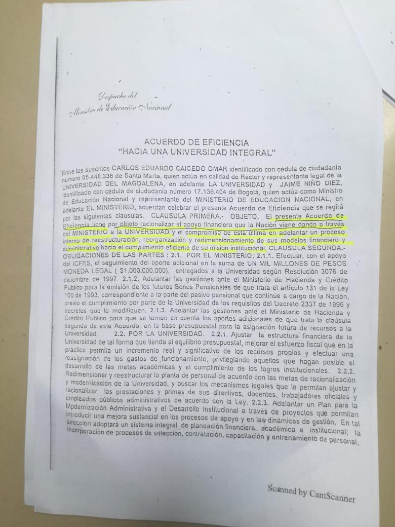 El acuerdo de eficiencia firmado por la rectoría de Carlos Caicedo con el Ministerio de Educación de entonces significó el alza de las matrículas para los estudiantes.