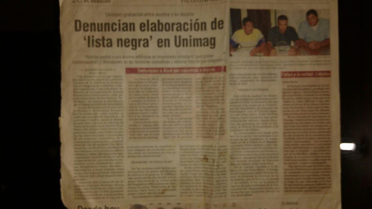 Líderes estudiantiles y sindicalistas denunciaban ante los medios la persecución que había en su contra.