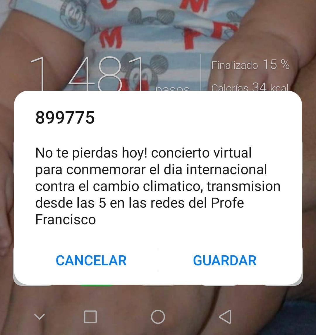 Este es el mensaje masivo que envían al celular de los estudiantes de Unimagdalena.