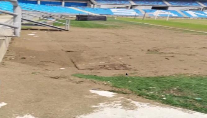 Así luce el estadio Sierra Nevada.