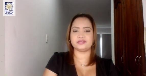 Rosita Jiménez en su participación en los Espacios de Escucha de la Comisión de la Verdad.