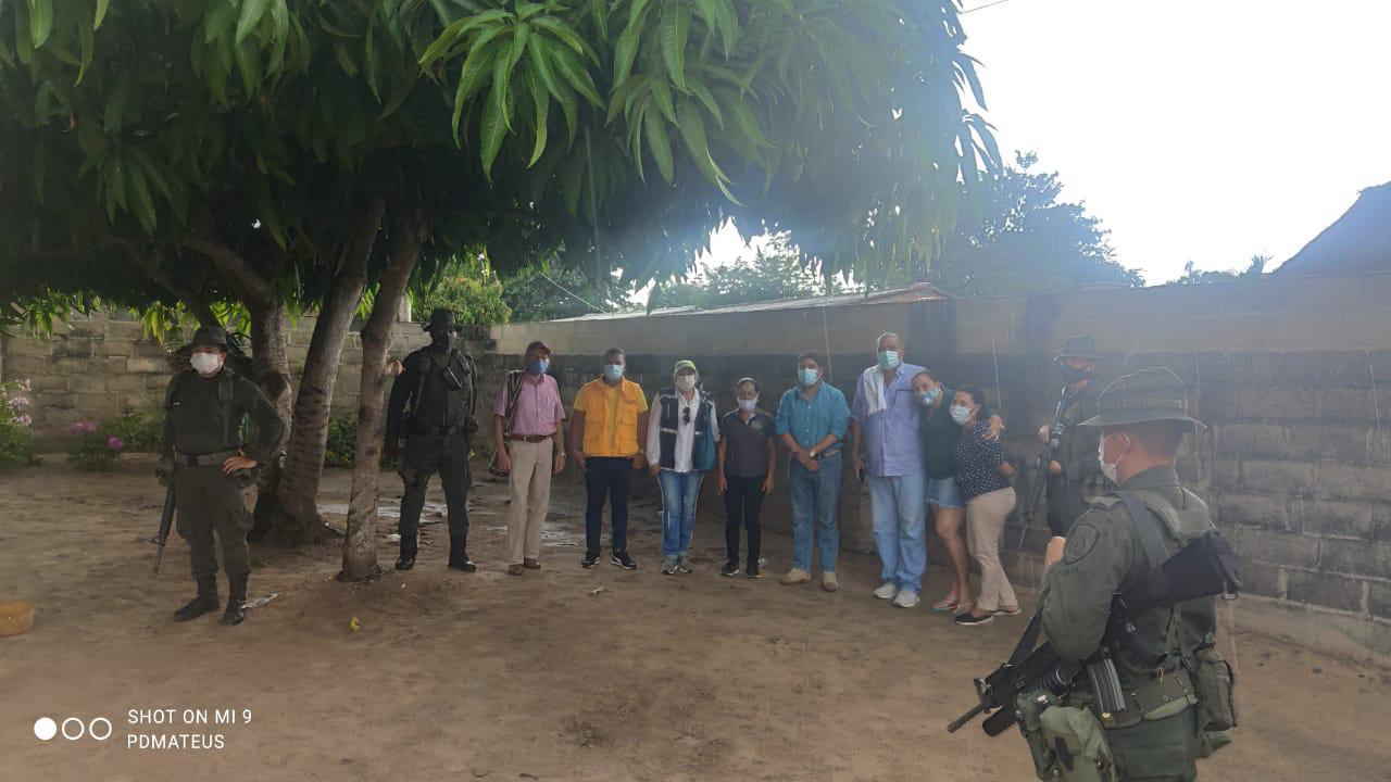 Las víctimas del despojo recuperaron sus tierras en días pasados. Imagen del retorno.