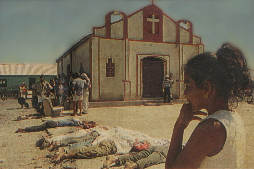 Imagen simbólica de la dolorosa masacre de Nueva Venecia.