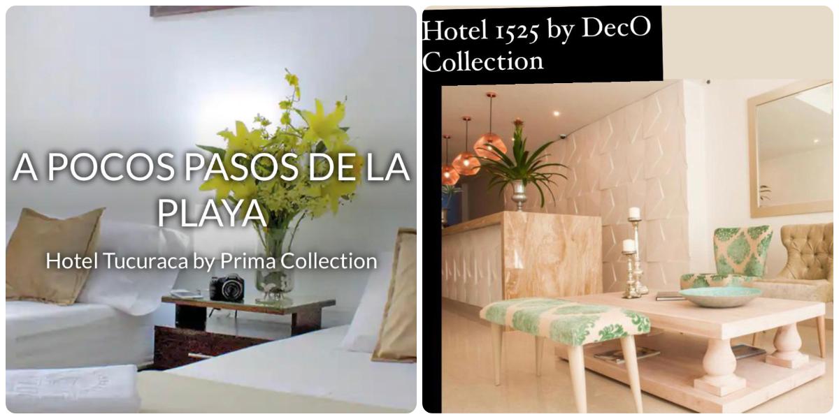 Tucuraca y 1525, dos de los hoteles by DOT Hotels en Santa Marta.