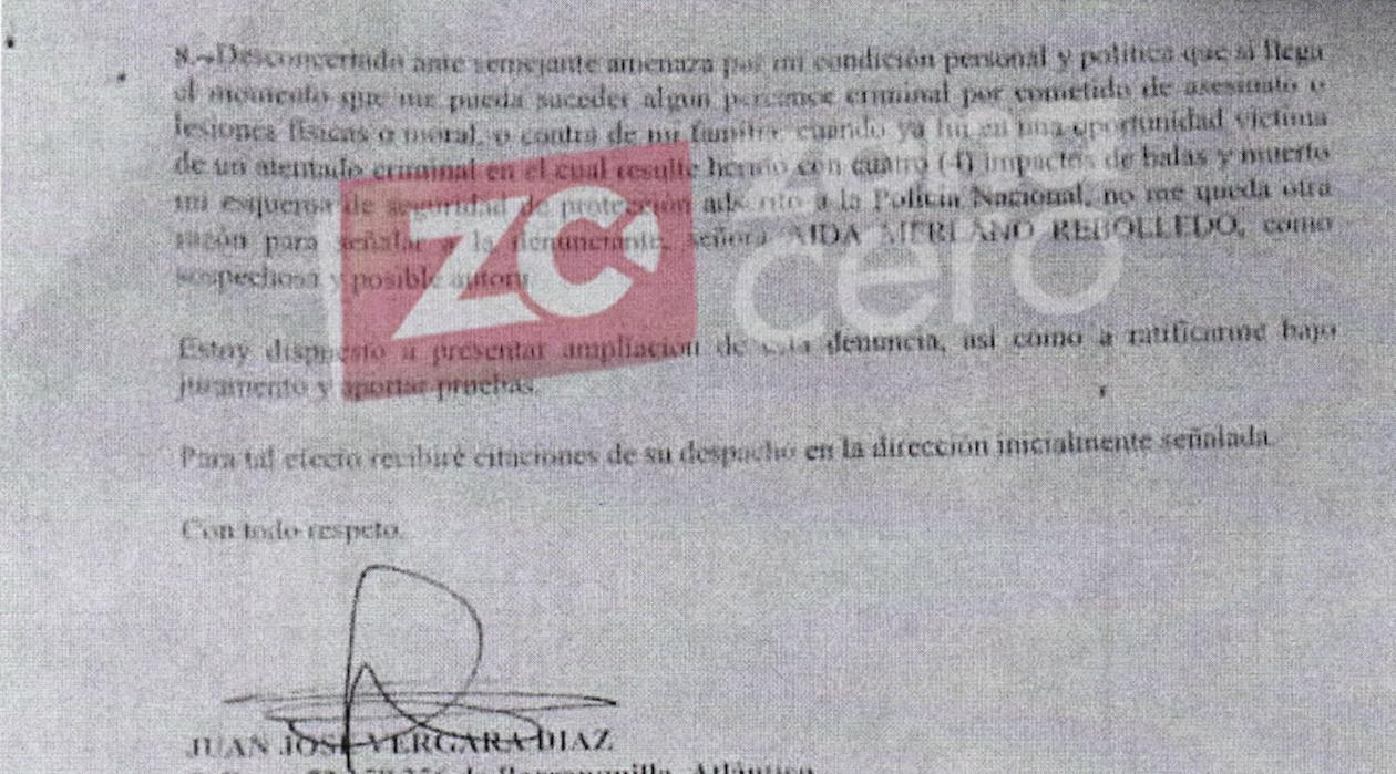 Advertencia del Concejal Juan José Vergara responsabilizando a Aida Merlano.