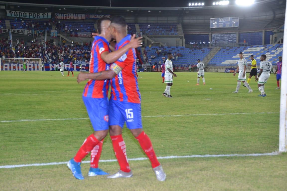 La alegría se sentía cuando el Unión Magdalena salió adelante en el marcador.