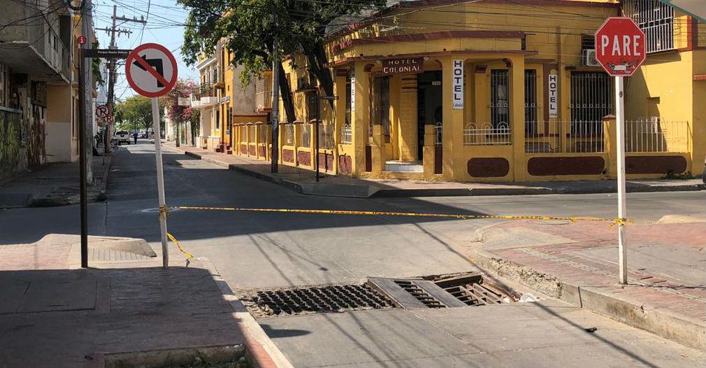Calle 20 con 2da, Centro Histórico de Santa Marta.