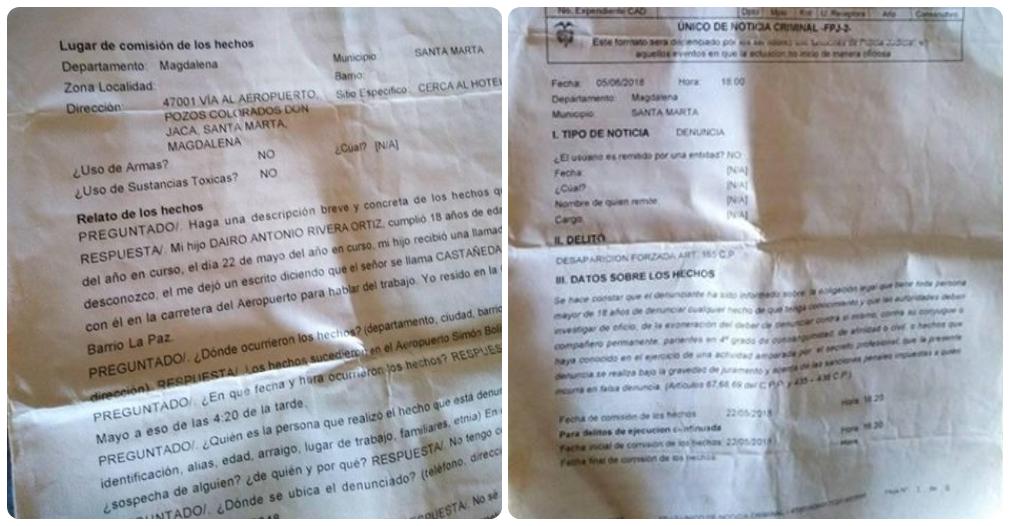 María instauró la denuncia, que fue asignada a la Fiscalía 04.