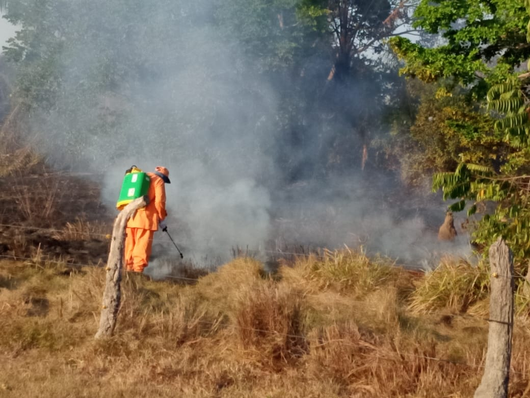 Incendio forestal en Guamal