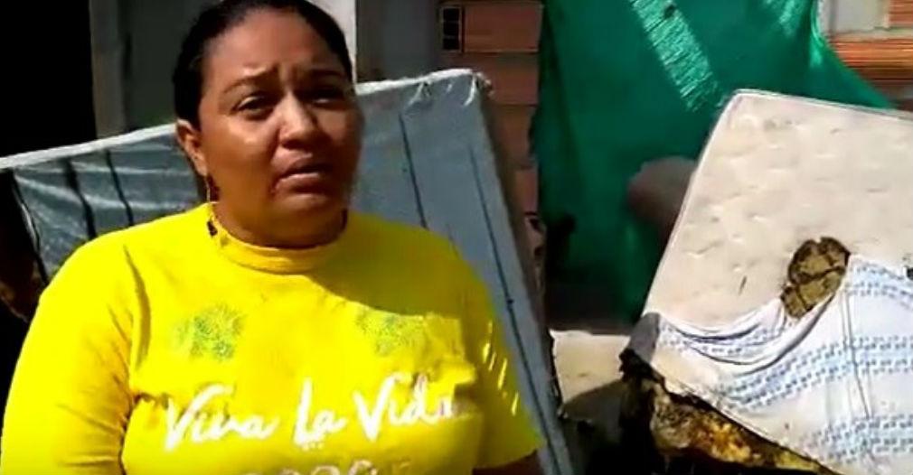 La dueña de la vivienda pide ayuda para tratar de recuperar algo de lo que perdió.