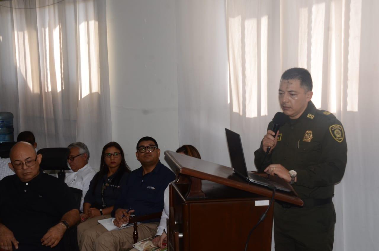 El comandante de la Policía Metropolitana de Santa Marta, coronel Oscar Solarte.