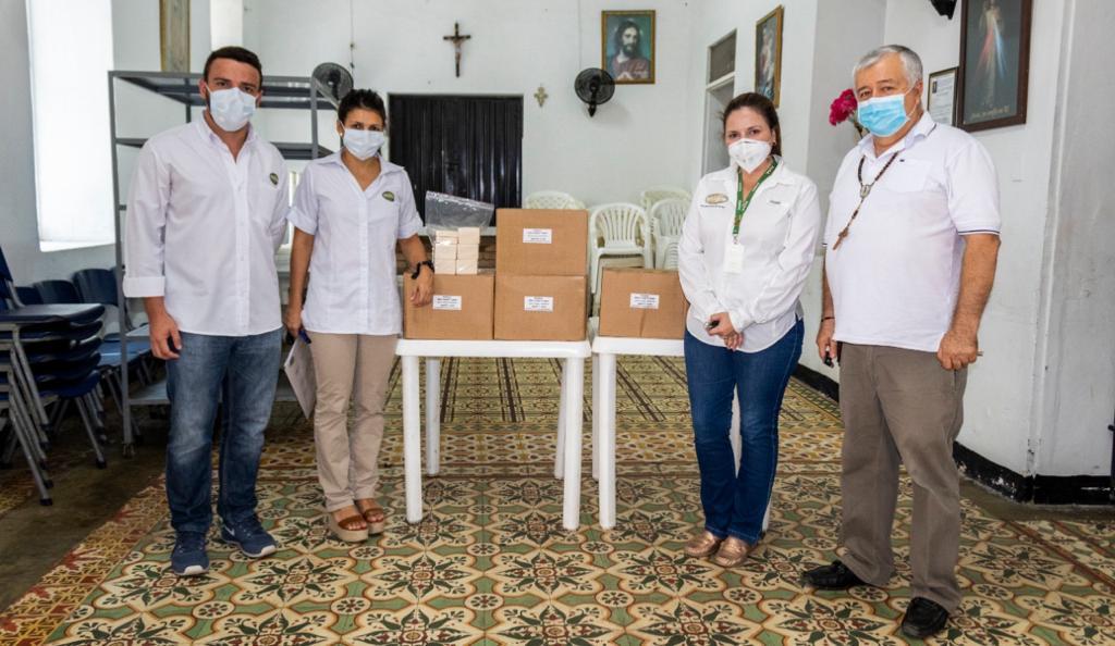 La jornada de donación comenzó el pasado viernes en Santa Marta, con la entrega de 4 mil jabones.