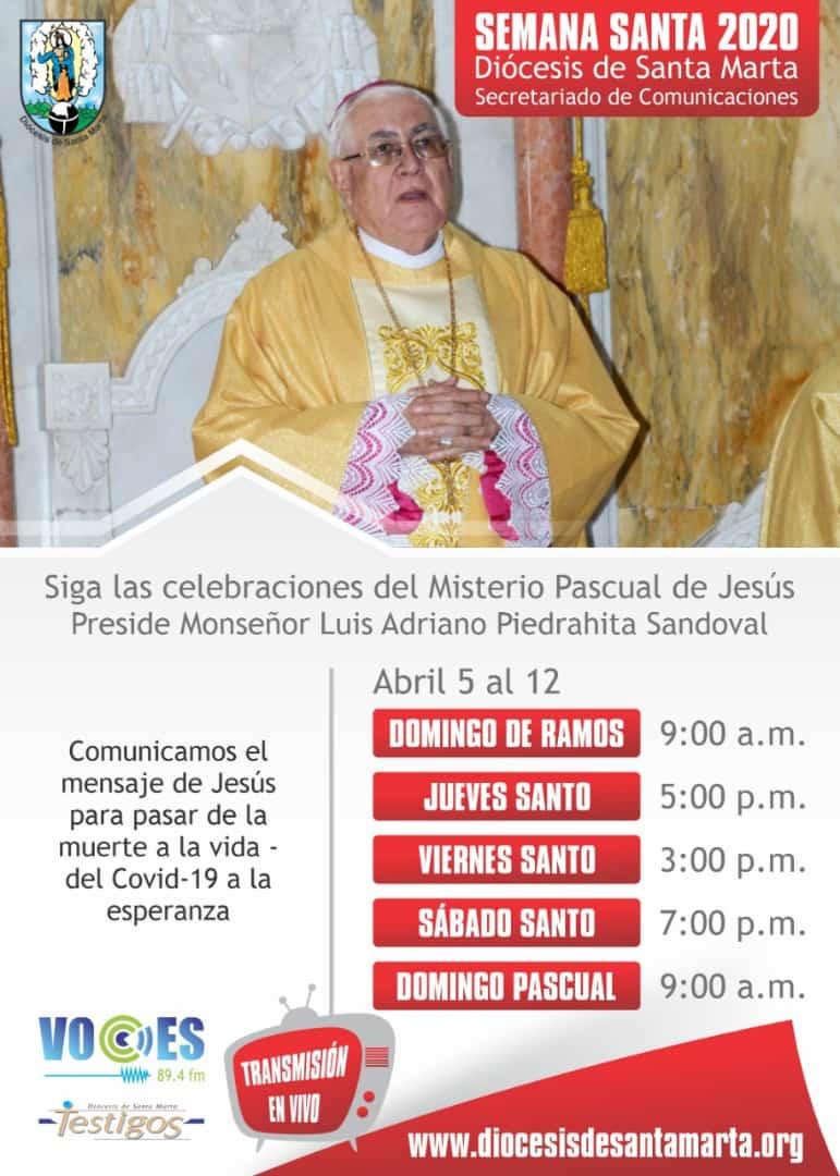 Programación de la transmisión de las celebraciones de Semana Santa.