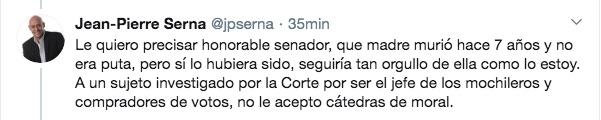 Trinos del periodista Jean Pierre Serna.