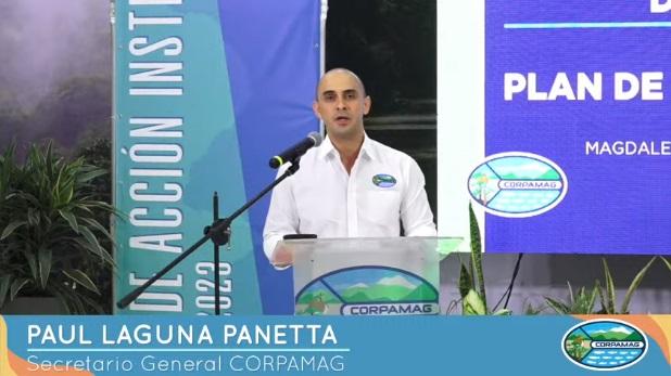 Paul Laguna Panetta, secretario general de Corpamag, fue el encargado de explicar la misión operativa del ente ambiental durante los próximos 4 años.