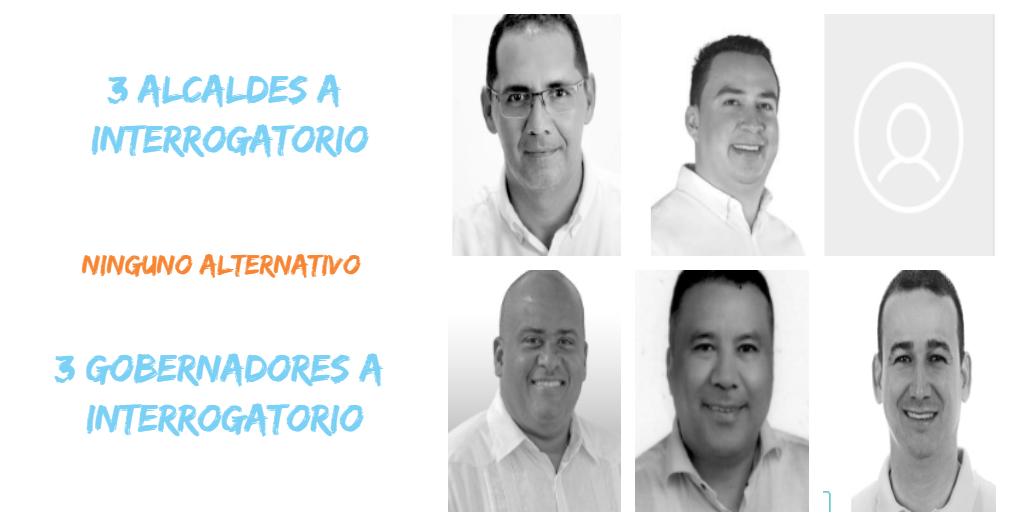 De los tres alcaldes y tres gobernadores mencionados por el fiscal, que irán a interrogatorio, ninguno es de izquierda.
