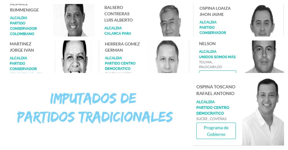 De los 10 alcaldes en la mira, 7 de ellos son de partidos tradicionales.