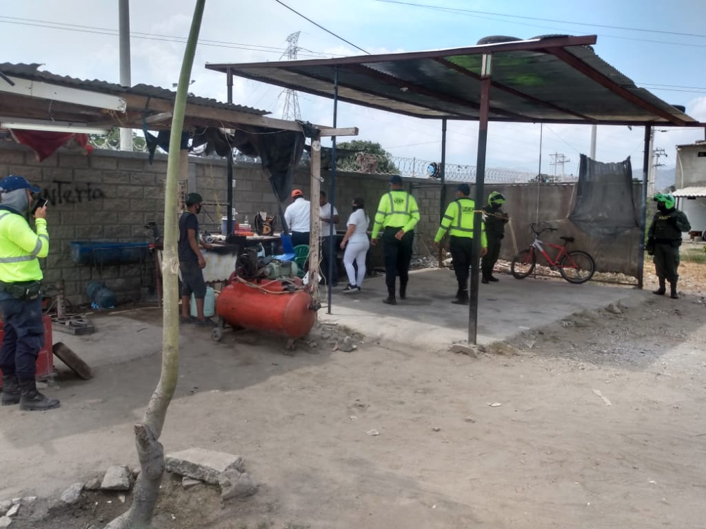 Operativos desarrollados en La Lucha.