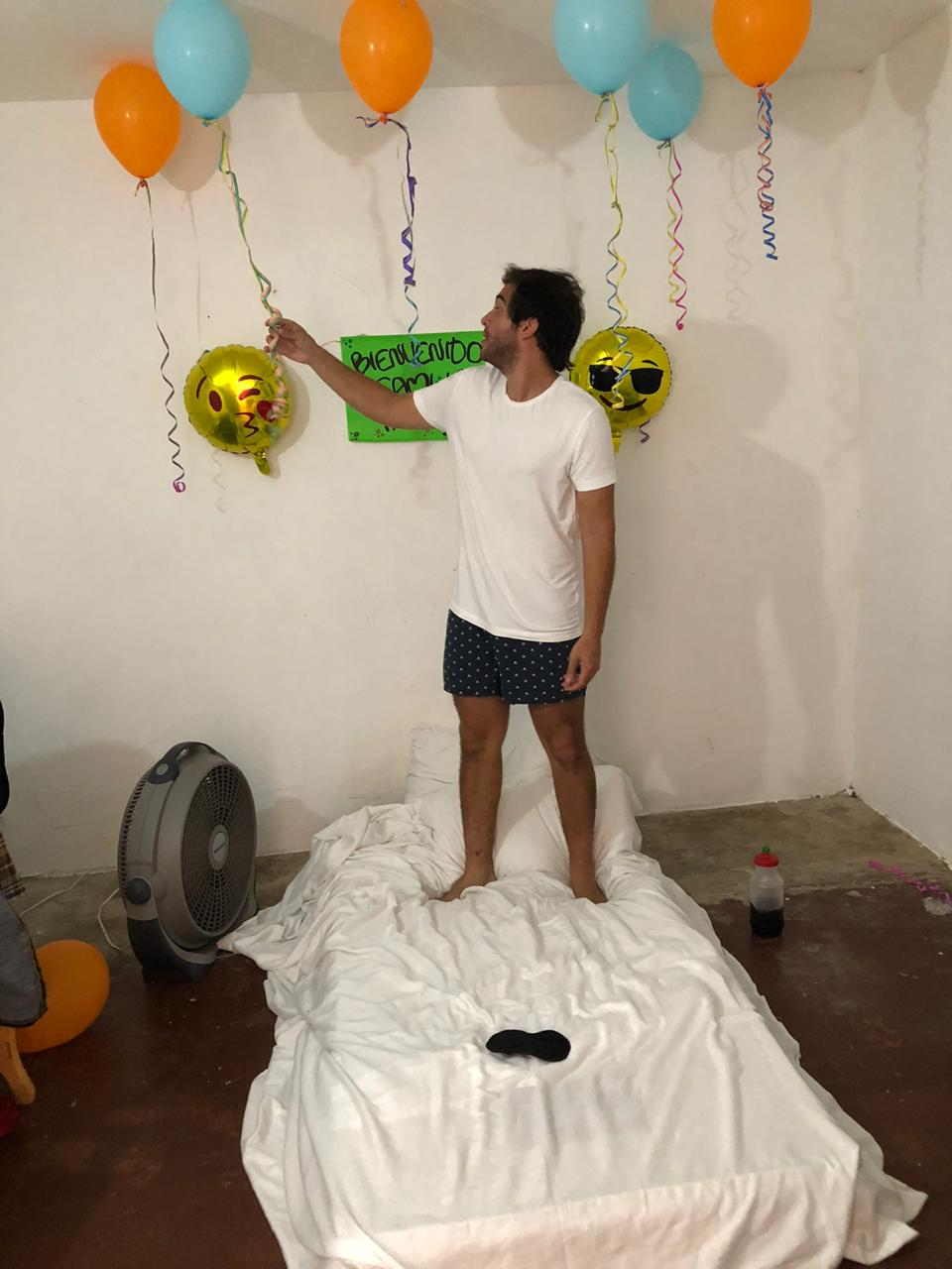 Recibimiento en la casa de los Escorcia en Barranquilla.