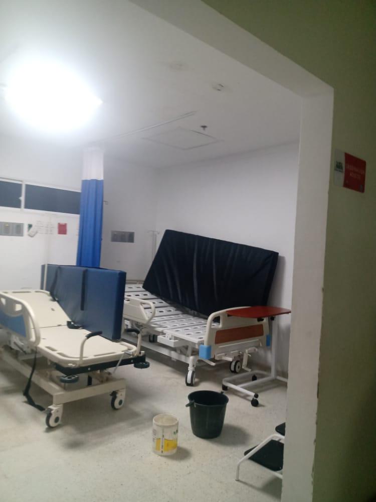Filtraciones en el Centro de Salud de La Paz.