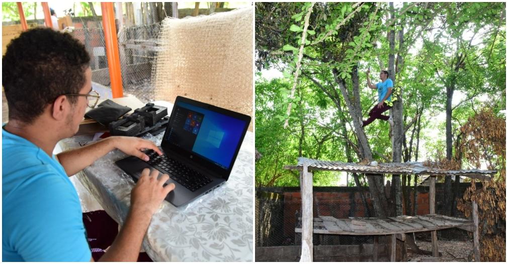 Tomás Gutiérrez fue el primero en evidenciar las dificultades para acceder a internet desde municipio.