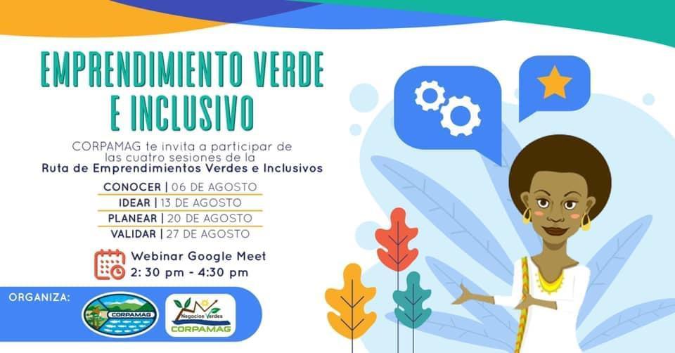 Invitación a participar en las capacitaciones de negocio verde de Corpamag.
