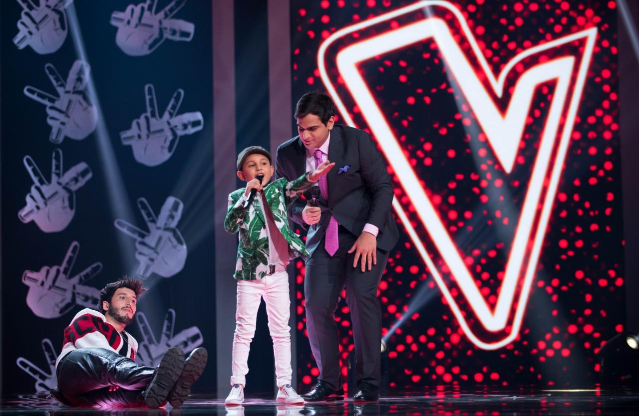 Juan David Rueda durante su participación en La Voz Kids.