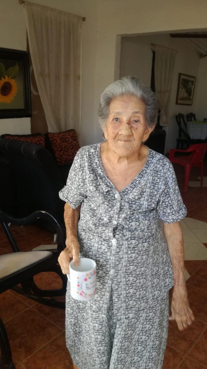 Matilde Contreras de Gutiérrez, actualmente.