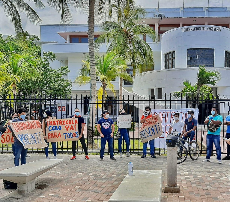 La manifestación se llevó a cabo en la mañana de este jueves.